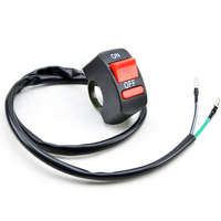 EAFC Universal Motorcycle Handlebar Flameout Switch ON OFF Button for Moto Motor ATV Bike DC12V/10A Black 3