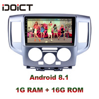 IDOICT Android 8.1 Car DVD Player GPS Navigation Multimedia For Nissan NV200 2009 2016 car stereo