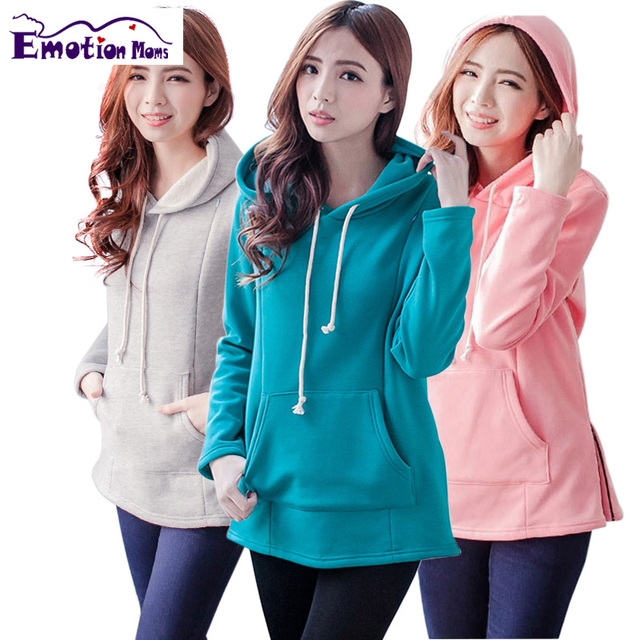 71e77fe1dbf0a Emotion Moms New Winter pregnancy Maternity Clothes Nursing tops for  Pregnant Women Breastfeeding Hoodie sweater Maternity