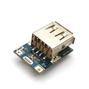 Image 3 - 1 Uds. Módulo de alimentación de 5V de aumento Placa de protección de carga de batería de litio Boost Converter pantalla LED USB para cargador DIY 134N3P