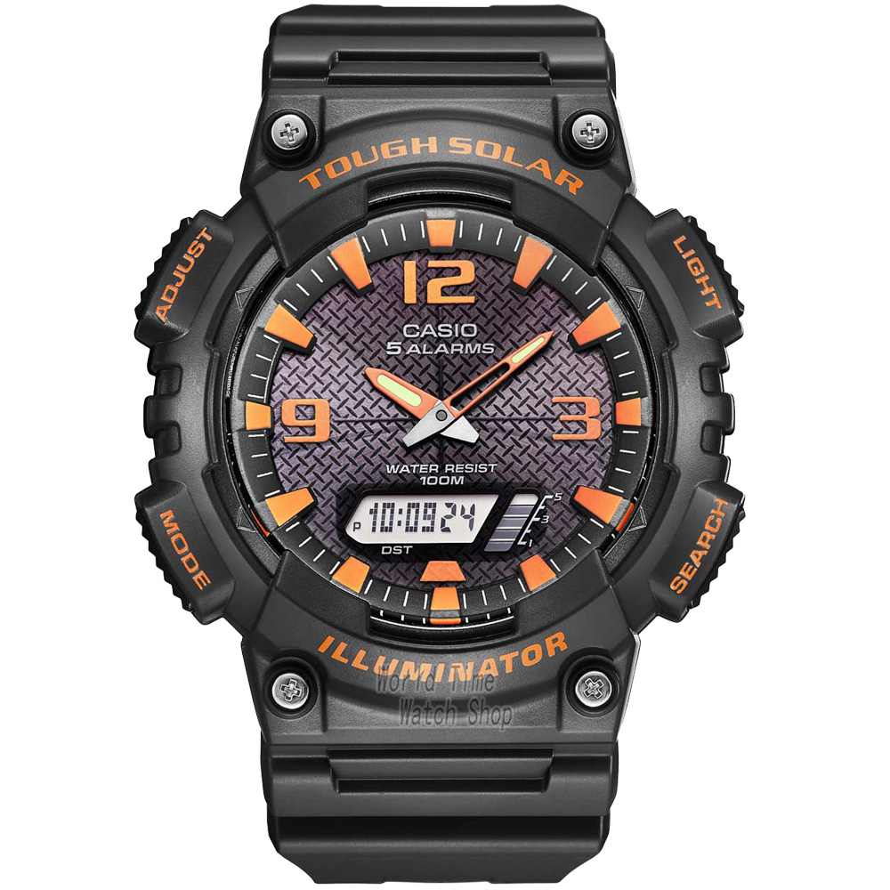 Casio Watch Outdoor Sports Solar Multifunction Casual font b Men s b font Watch AQ S810W