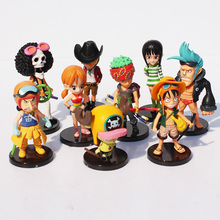 Strawhat Crew Cartoon Figurine Set [9pcs]