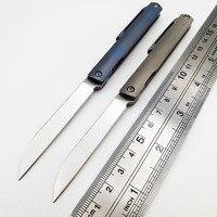 JSSQ S35VN Blade Folding Knife Titanium Handle Camping Pocket Hunting EDC Tools Survival Portable Self defense Fruit Mini Knives