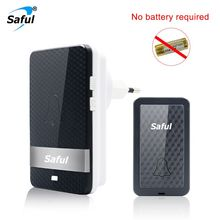 Saful Wireless Self-powered Doorbell Waterproof Intelligent No Battery EU Plug D