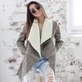 Starlist Winter Spring Suede Lambswool Coat Zipper Jacket Turn Down Collar warm cashmere Outwear woman fashion overcoat