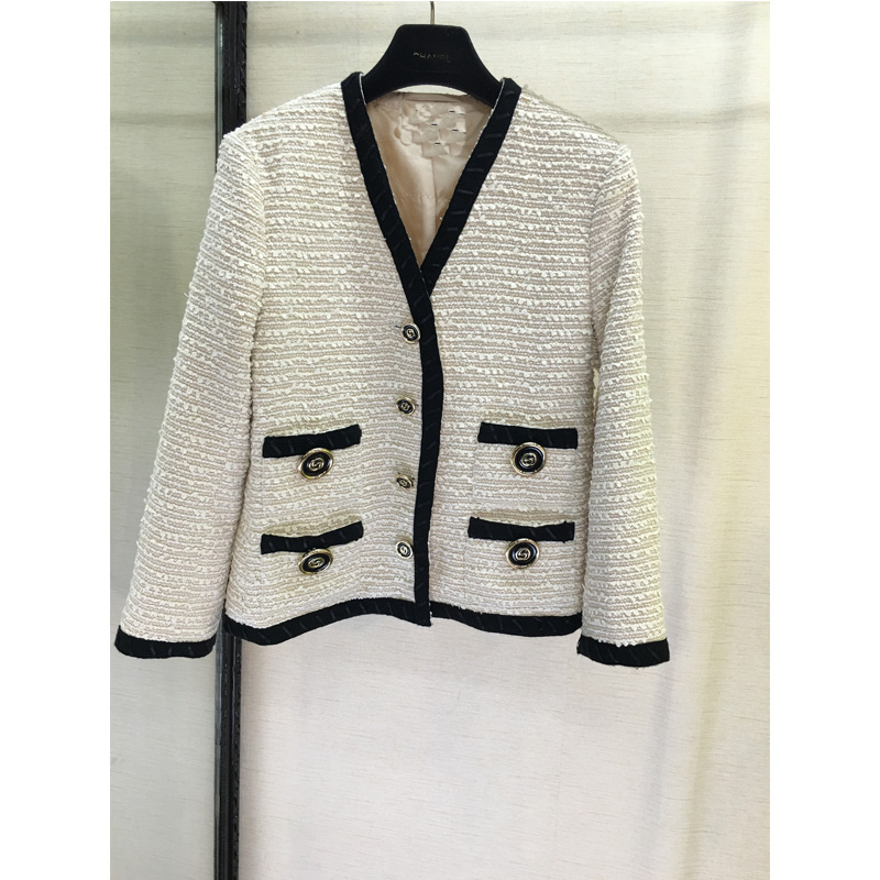 GG High-End Custom Fashion White Women's Coat Runway Fashion Jacket