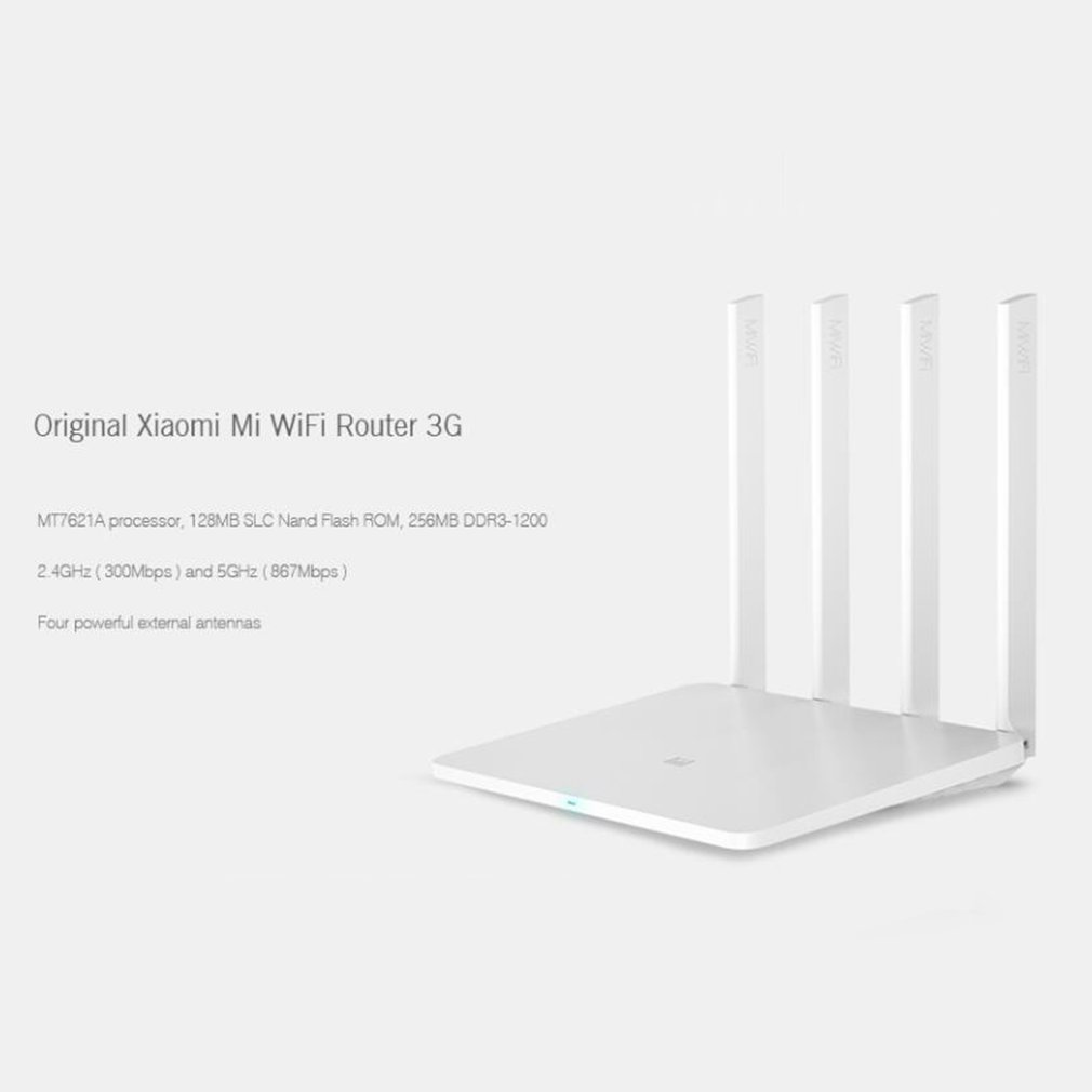 Xiao mi routeur 3G WiFi répéteur 1167 Mbps 2.4G/5 GHz double 128 mo bande Flash ROM 256 mo mémoire APP contrôle mi routeur sans fil 3g - 5