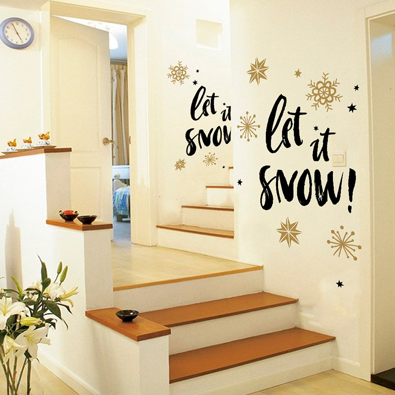 3D Art DIY Merry Christmas Wall Stickers for Kids Rooms Santa Living ...