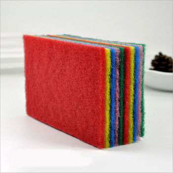 15*10cm Kitchen Scouring Pad for Scouring Dishwashing Cleaning Scrubbing Scrubbies Muti Colors 100/pcs DEC107 фото