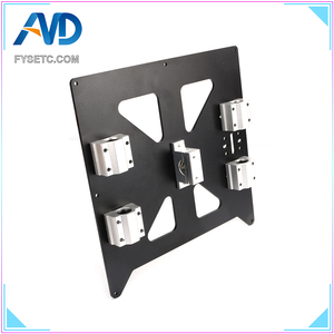 Image 4 - Aluminum Y Carriage Anodized Plate With SC8UU pgrade Prusa i3 V2 Hot Bed Support Plate For Prusa i3 RepRap DIY 3D Printer parts