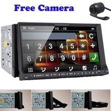 Задняя Камера + новый автомобиль Радио Двухместный 2 DIN 7 дюймов стерео DVD CD-плееры Bluetooth SD/USB авто Видео головного устройства Автомобильные ПК AUX