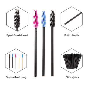 Image 3 - zwellbe 50Pcs Eyelash Eyebrow Makeup Brushes Disposable Mascara Wands Applicator Eyelash Extension Comb Beauty Cosmetic Tool