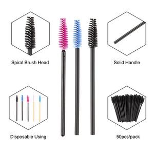 Image 3 - zwellbe 50Pcs Eyelash Eyebrow Makeup Brushes Disposable Mascara Wands Applicator Eyelash Extension Comb Beauty Cosmetic Tool