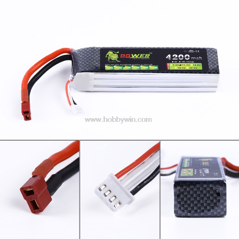 11.1V 3S 4200mAh 30C LiPO Battery T-plug for RC Model Airplane FPV Drone Helicopter Lipolymer power pack11.1V 3S 4200mAh 30C LiPO Battery T-plug for RC Model Airplane FPV Drone Helicopter Lipolymer power pack