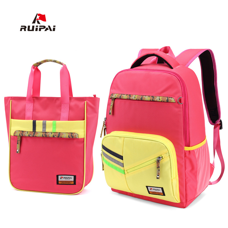RUIPAI 2PCS 1 Set Kids Backpack Shoulder Bags Orthopedic Backpack Schoolbag For Boys Girls Primary School Students Fashion Bags 710 39 99usd 9 colours 2017 wholesale korean fashion pu zipper primary secondary school students backpack five pieces 2017121401