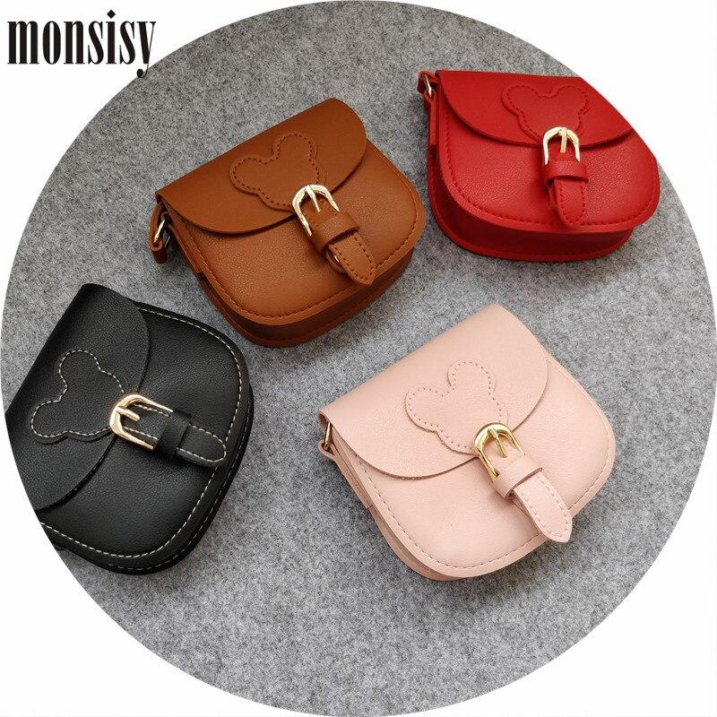 Monsisy Christmas Girl Coin Purse and Handbag Children Wallet Kawaii PU Leather Mouse Kid Shoulder Bag Baby Boy Messenger Bag