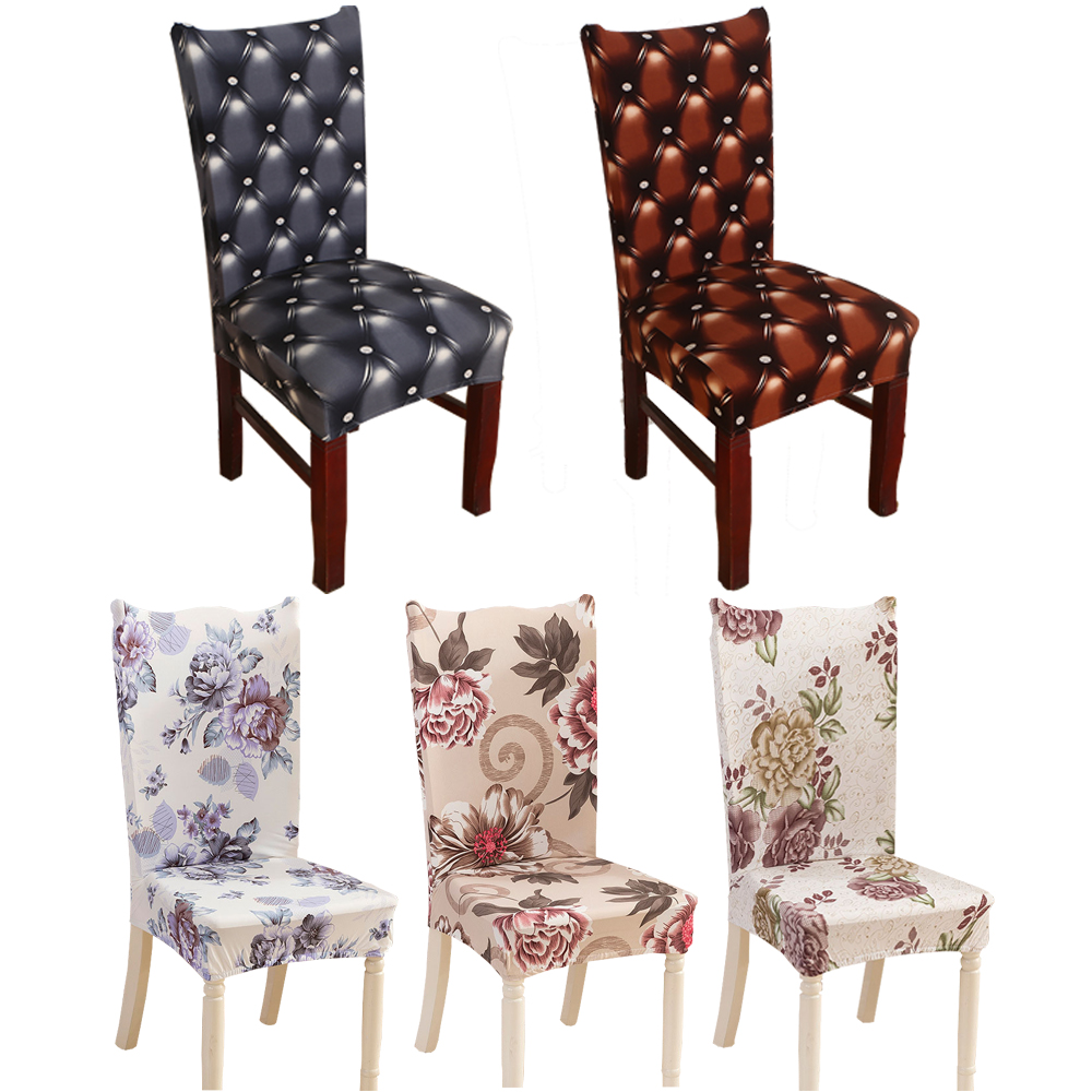 Attrayant Elastic Floral Chair Covers Stretch Removable Modern Dining Chair Cover  With Back Modern Kitchen Seat Case Minimalist Decor