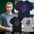 Camisa caril basketballer roupas de marca Sportwear Tops Mens NO. 30 camisa do Verão t Eu posso fazer todas as coisas de Manga de Algodão T-shirt