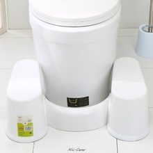 Auxílio de banheiro antiderrapante, plástico, agachamento, banheiro, banheiro, fogão para pés, pote, ajuda, prevenção de constipação, movimentos rápidos de toalha