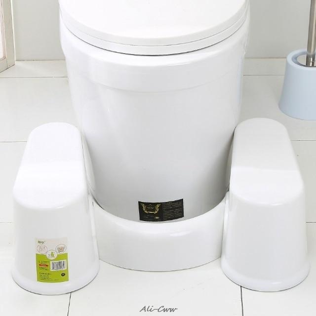 プラスチックノンスリップ浴室トイレ援助 squatty ステップ足スツールトイレ防ぐ便秘高速腸運動