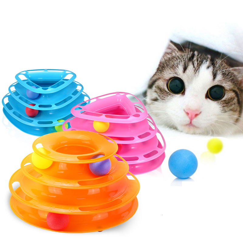 Funny Cat Pet Toy Cat Toys Intelligence Triple Play Disc Cat Toy Balls Cat Crazy Ball Disk Interactive Toy Игрушка