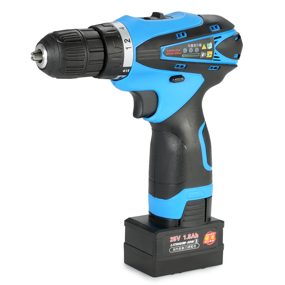 25V Electric Drill Lithium-Ion Two-speed Multi-functional Electric Cordless Drill Rechargeable Screwdriver with LED Light electric cordless drill 16 8v lithium ion dremel drill engraver electric drill power tools two speed rechargeable screwdriver