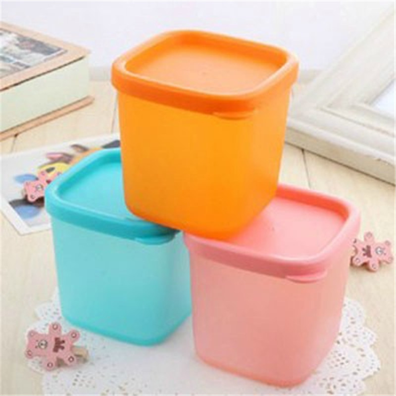 Hot Sale Plastic Food Storage Container Thicken 10x10cm 230ML Sealed  Refrige Snacks Crisper Kitchen Sorting Food Storage Box