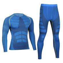Men Pro Compression Long Johns Fitness Quick Dry Gymming Male Shirts Tights Pants Sporting Runs Thermal
