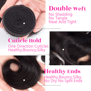 Image 5 - Mèches Body Wave indiennes Remy 360 Lace Frontal