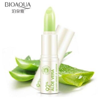Natural Aloe Moisturizing Lip Balm Colorless Refine Repair Lip Wrinkles for Woman Winter Lip Care 1 Pcs