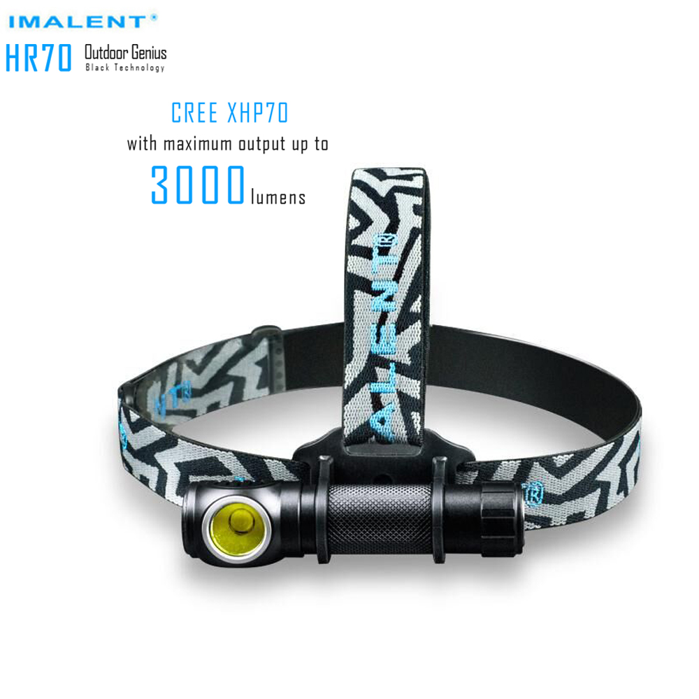 IMALENT HR70 Headlamp CREE XHP70.2 LED Flashlight <font><b>3000lm</b></font> Rechargeable Headlight with 18650 Battery + Magnetic Charging Cable image