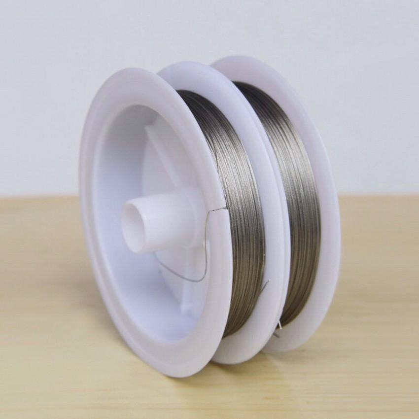 Free Shipping 1 Roll High Quality Silver Tone Stainless Steel Handmade DIY Jewelry Accessories Wire 0.3mm~1mm ...