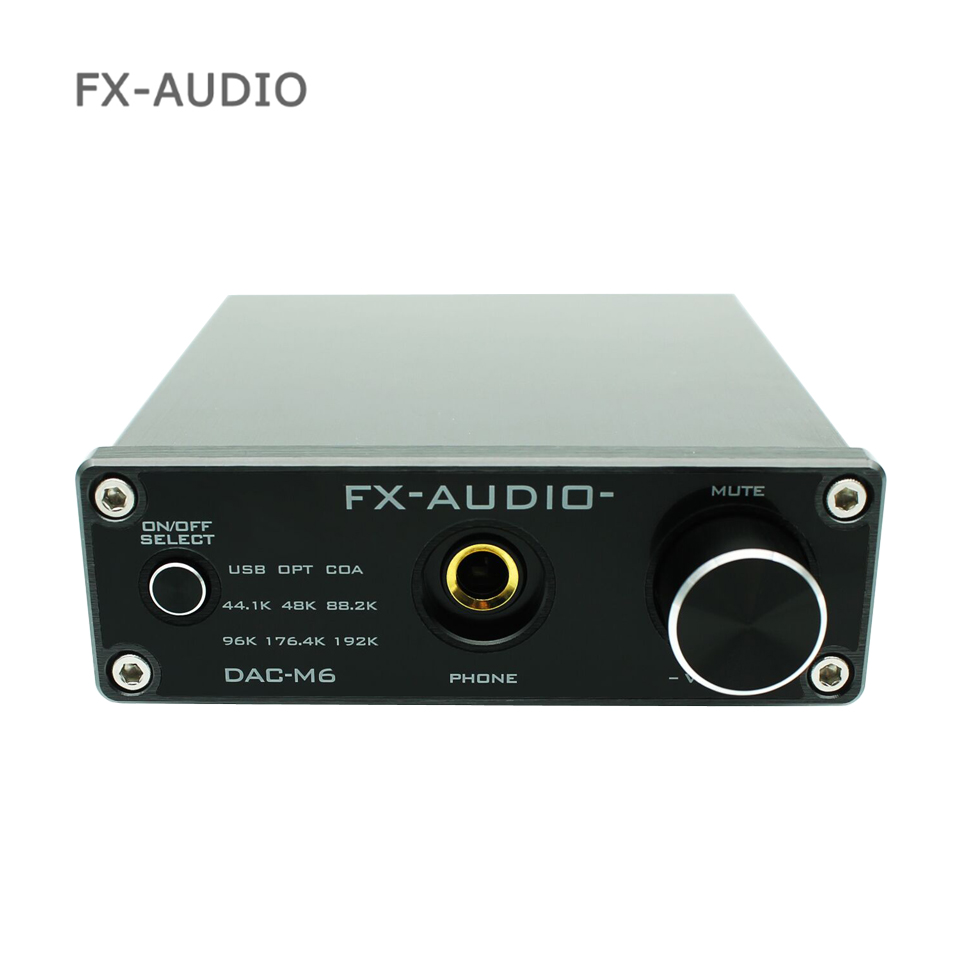 2018 FX-AUDIO DAC-M6 MINI HiFi 2.0 Digital Audio Decoder DAC Input USB/Coaxial/Optical Output RCA/ Amplifier 24bit/192khz DC5V smal a6 hifi digital audio amplifier usb dac dsd512 usb optical coaxial lp player cd analog input headphone out amplifier 50w 2
