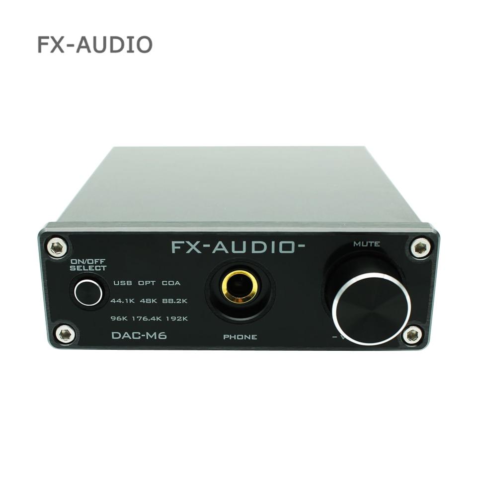 FX-AUDIO DAC-M6 MINI HiFi 2.0 Digital Audio Decoder DAC Input USB/Coaxial/Optical Output RCA/ Amplifier, DAC-X6 upgraded version fx audio feixiang dac x6 fever mini hifi usb fiber coaxial digital audio decoder dac 16bit 192 amplifier amp tpa612