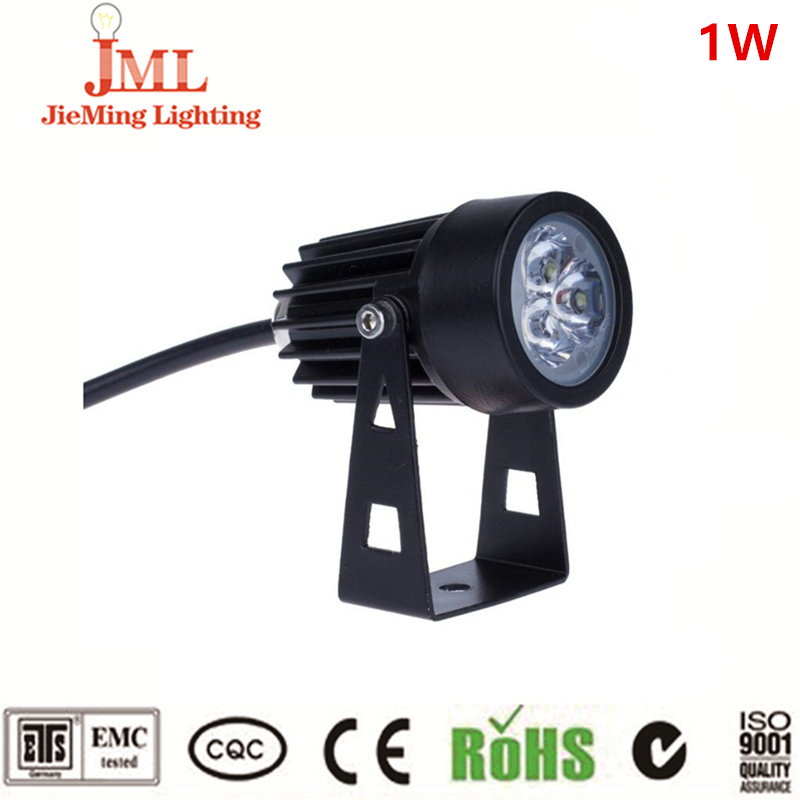 2017 Mini outdoor spot light 1W with single color LED floodlight aluminum material IP68 waterproof led light reflector