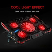 2 USB 5-fan Laptop Cooling Fan Stand Silent Laptops Cooler Stand Support Notebook Within 17 Inches For Games/Office/Home цена и фото