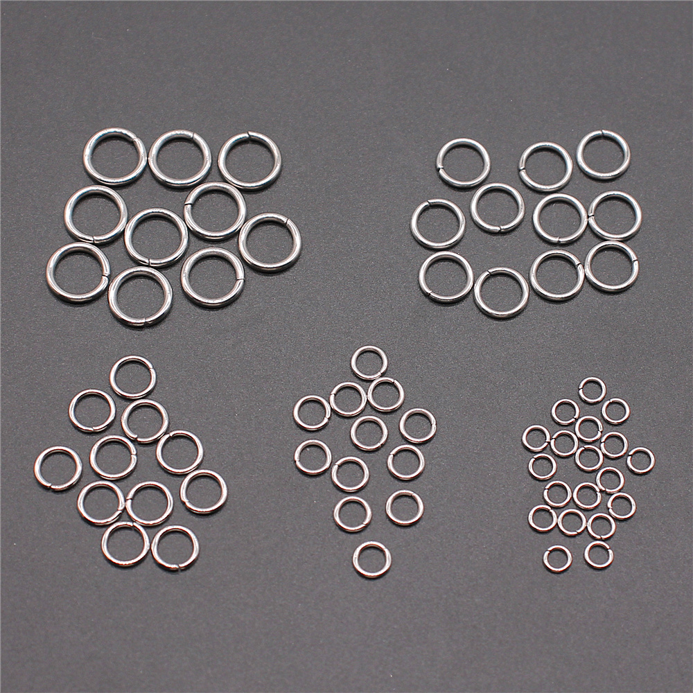 Hautoco 100Pcs Key Chain Rings with Extend Chain and Screw Eye Pins for DIY C...