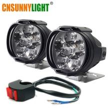 CNSUNNYLIGHT Motorcycle 9W LED Headlight Headlamp Scooters Spot Fixtures Illumination Fog DRL External Daytime Running Lights
