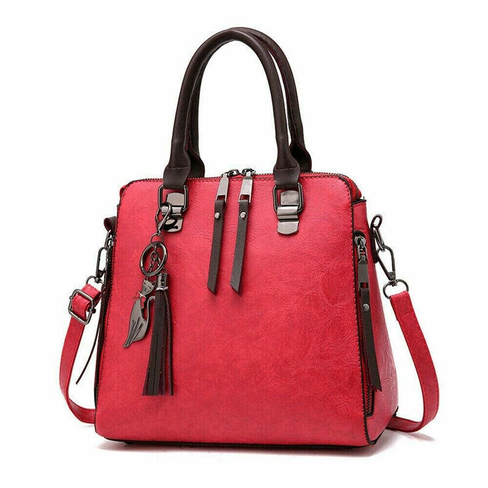Fashion Handbag Briefcase Messenger-Bag Large-Capacity Women's Solid PU Canta