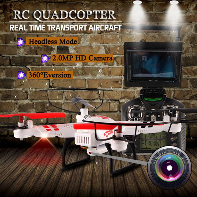 WLToys V686G DV686 DV686G FPV Drone With Camera Headless Mode RC Quadcopter 2.4G 4CH 5.8G FPV RC Helicopter Quadcopter Toy wltoys v686g 4ch 5 8g fpv real time transmission 2 4g rc quadcopter with 2 0mp camera headless mode auto return function us plug