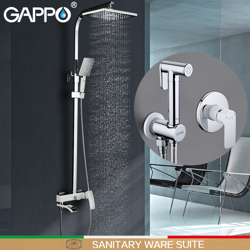 GAPPO Bathtub Faucets bath tub tap bathtub waterfall faucet bidet faucet muslim shower toilet bidet mixer Sanitary Ware Suite