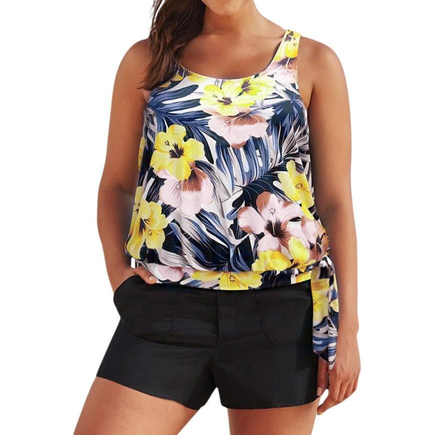 Swimwear Women Swim Suit Tankini Sets With Boy Shorts -9286