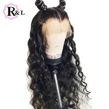 RULINDA вьющиеся 13X4 кружевные передние человеческие волосы парики с предварительно выщипанными бесплатной частью бразильские Remy человеческие волосы кружевные парики отбеленные узлы