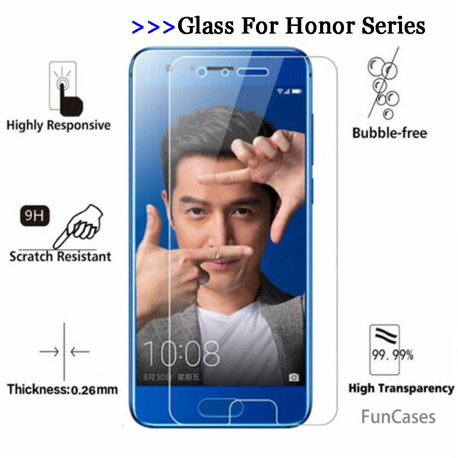 For Huawei <font><b>Honor</b></font> <font><b>7X</b></font> Glass protective glass for huawei <font><b>honor</b></font> 9 8 6 Plus <font><b>7X</b></font> 6A 6X 6C 6 5X 5C 7i screen protector film Tempered 9H image