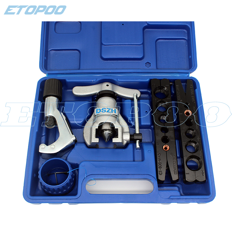 1Set Metric And Inch Tube Expander Kit Air Conditioner Copper Pipe Pipe Reamer Tube Flaring Tool 6-19mm 1/4-3/4 Inch