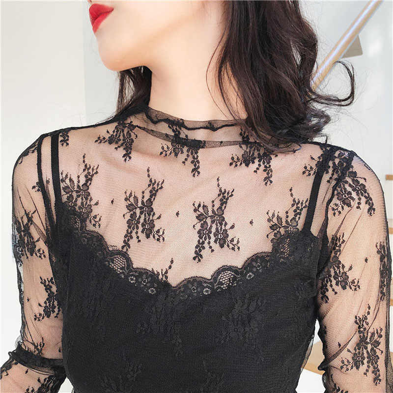 4535dad6740c8d Soft lace 2018Summer Womens Tank tops T-Shirt Sexy Lace Vest Top Crochet  transparent Vest
