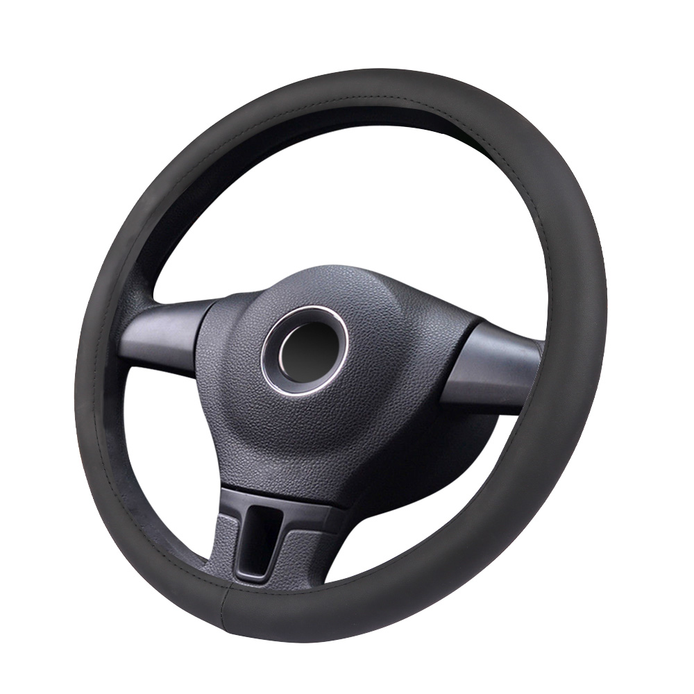 Auto Steering Wheel Cover Suit For Four Seasons Universal 38cm Micro Fiber Leather Steering Wheel Cover