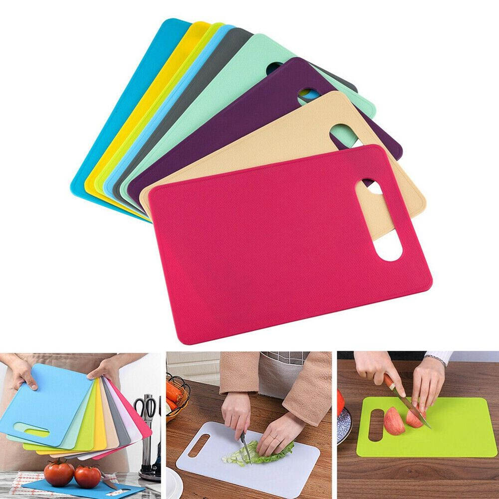 Non-slip Hang Hole Cutting Board Anti Bacterium Chopping Board Food Slice Cut Chopping Block Bar Kitchen Gadgets Accessories