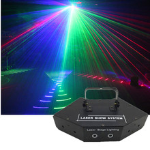 6 Lens RGB Laser Image Lines Beam Scanner DMX DJ Dance Bar Christmas Home Party Disco Stage Effect Lighting Laser Show System(China)