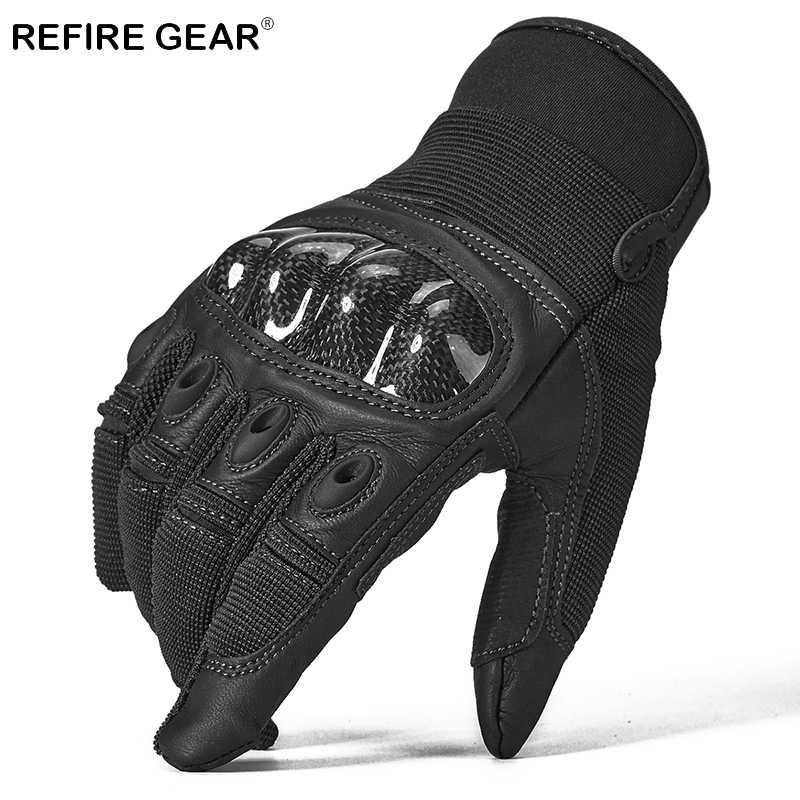 ReFire Gear nos Ejército Soldado táctico guantes dedo completo los hombres duros nudillos guantes para excursionismo al aire libre hombre disparar combate militar guantes